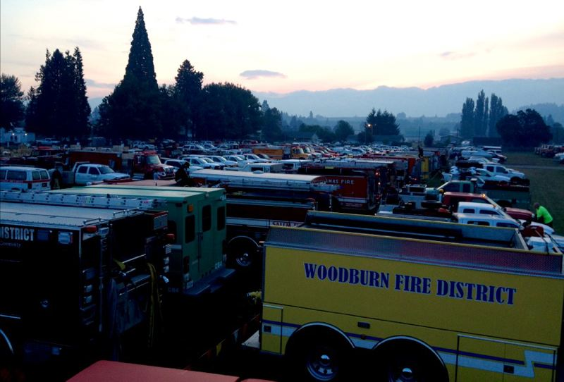 CONTRIBUTED PHOTO: VANCE ROGERS  - Crews from around the state stay at a base camp at Hood River County Fairgrounds at Odel fire camp during the Eagle Creek fire.
