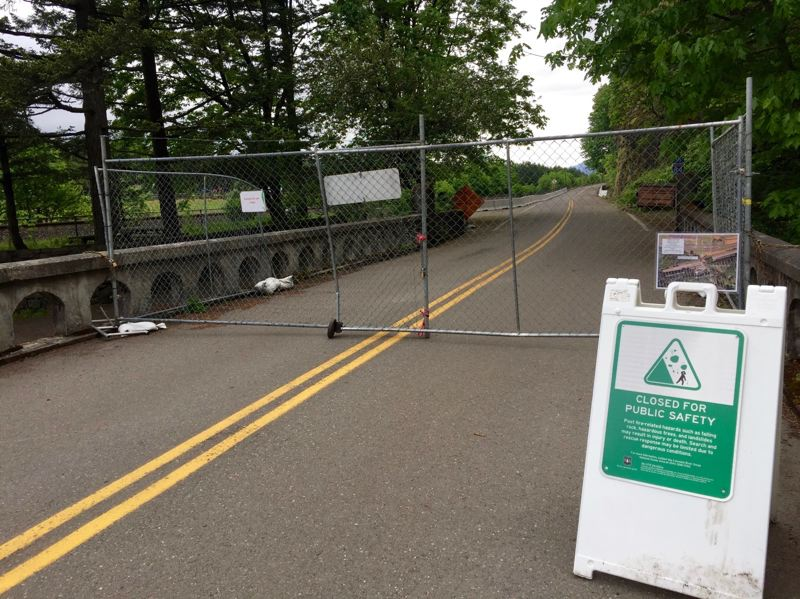 FILE PHOTO: MATT DEBOW - A section of the Historic Columbia River Highway including near Mulnomah Falls remains closed.