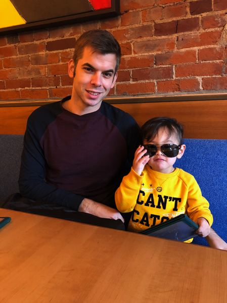 CONTRIBUTED PHOTO - Jeffrey Cerveny hangs out with Maddox, one of his nephews. Cerveny was just named principal of Patrick Lynch Elementary School in the Centennial district.