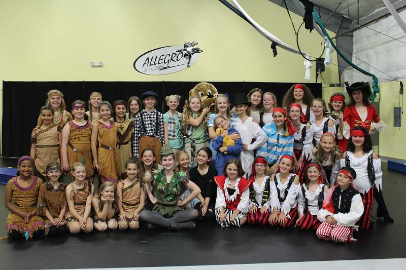 HERALD PHOTO: KRISTEN WOHLERS - The cast of Peter Pan Jr. has been rehearsing for the upcoming shows on June 22-23.