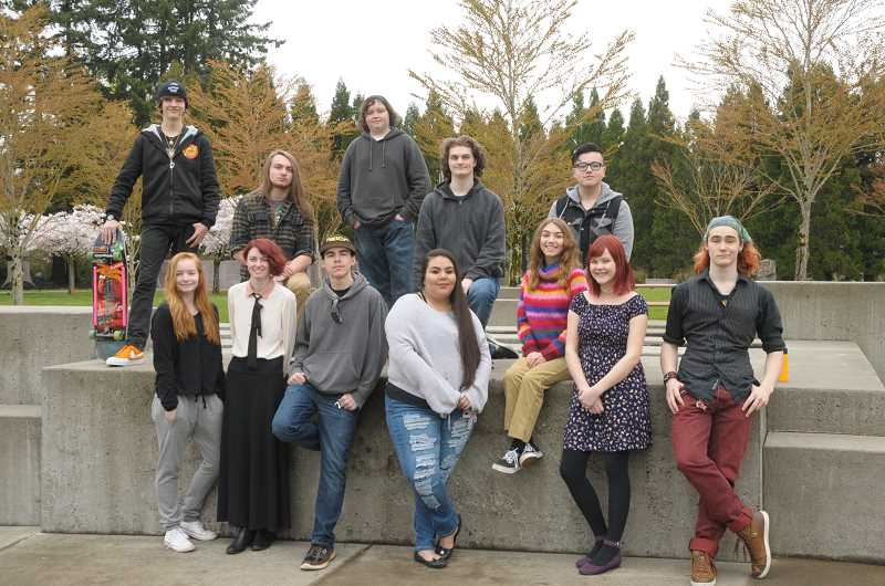 SUBMITTED PHOTO  - Class of 2018 bottom row, left to right: Kyla Babbitt, Caitlin Strader, Ethan Bossen, Samantha Rodriguez, Julia Laws, Justine Jung and Christian Novasio; top row, left to right: Mason Hobbs, Patrick Grundman, Trevor Britt, Griffin Frysinger and Nathan Gonzalez. Not pictured: Emma Baker, Riley Coffey, Laila Dixon, Shea Errett, Jasper Fowler, John Haxhaj, Logan Lee, Dennis Lehninger, Kayla Miles, Dylan Nixon, Adriana Pacheco, Paloma Pahle, Johnny Perez, Jacob Thompson, Kaya Williams and Joshua Wilson.