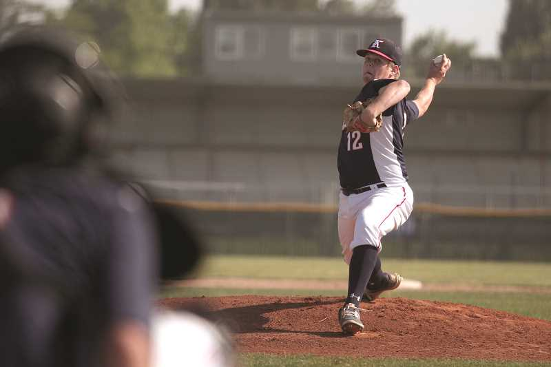 PHIL HAWKINS - While Brady Traeger earned his All-State honors in the outfield, he made a name for himself as one of the top pitchers in the Special District 2 Conference, going 9-0 in the regular season.