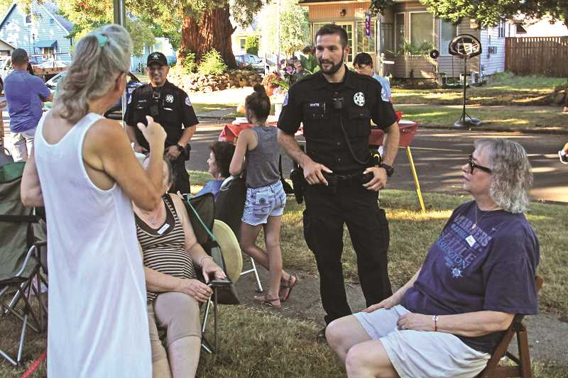 INDEPENDENT FILE PHOTO - National Night Out has been held in Woodburn neighborhoods for many years.