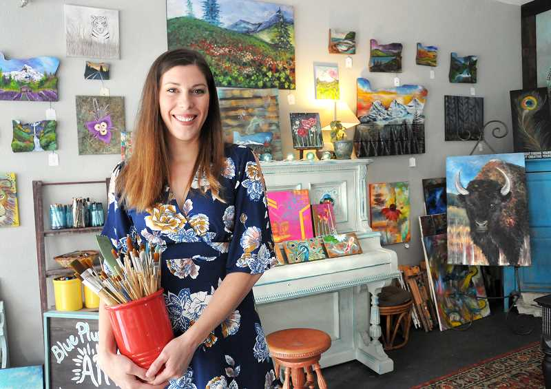 GARY ALLEN - Jennifer Smith opened Blue Plume Studio in an outbuilding adjacent to her Newberg home on Highway 240.