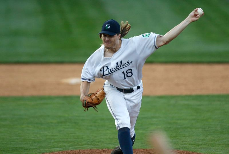 TRIBUNE FILE PHOTO: JONATHAN HOUSE - Pitcher Max Jones, along with outfielder Joey Cooper, is playing for the Portland Pickles for the third year in a row.