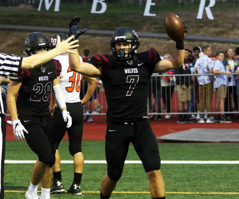 TIMES PHOTO: DAN BROOD - Lucas Noland, a 2018 Tualatin graduate, will play for the South team in Saturdays Les Schwab Bowl football game.