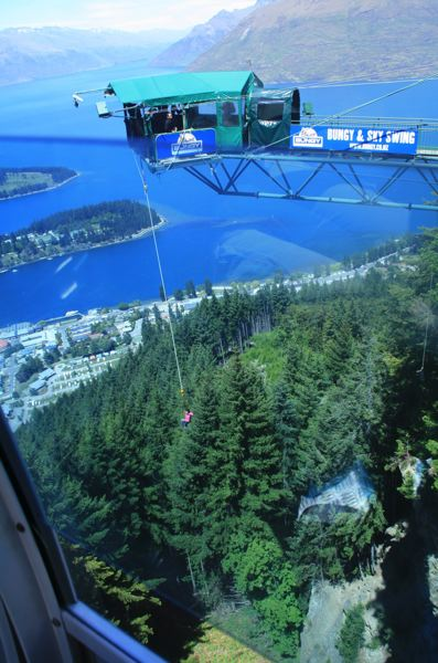 CONTRIBUTED PHOTO: LILA REED - The Skyline tram affords a magnificent view of Queenstown and Lake Wakatipu, from gondolas reputed to make the steepest ascent in the southern hemisphere. The summit is also a launching pad for bungee jumpers.