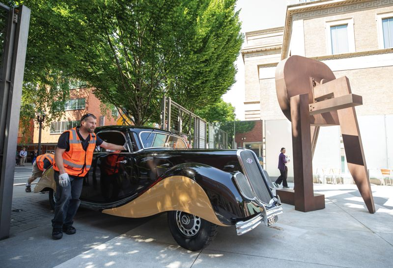 PORTLAND TRIBUNE: JONATHAN HOUSE - Sleek classic cars will be exhibited at Portland Art Museum over the next three months in 'The Shape of Speed: Streamlined Automobiles and Motorcycles, 1930-1942.' It was quite an ordeal to roll the vehicles into the museum