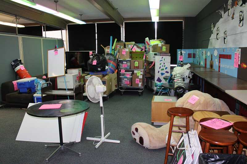REVIEW PHOTO: ANTHONY MACUK - The Lake Oswego Parks & Recreation Department is in the process of packing up and moving out of its current headquarters at the Palisades building, which will revert to the Lake Oswego School District next month.