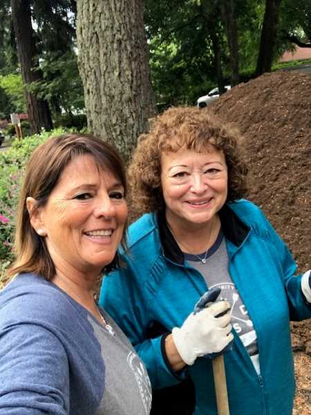 SUBMITTED PHOTO: WINDERMERE REALTY GROUP - Judy Adler and Jennifer King pose for a selfie at the Lake Oswego Adult Community Center during Windermere Realty Group's annual community service day.