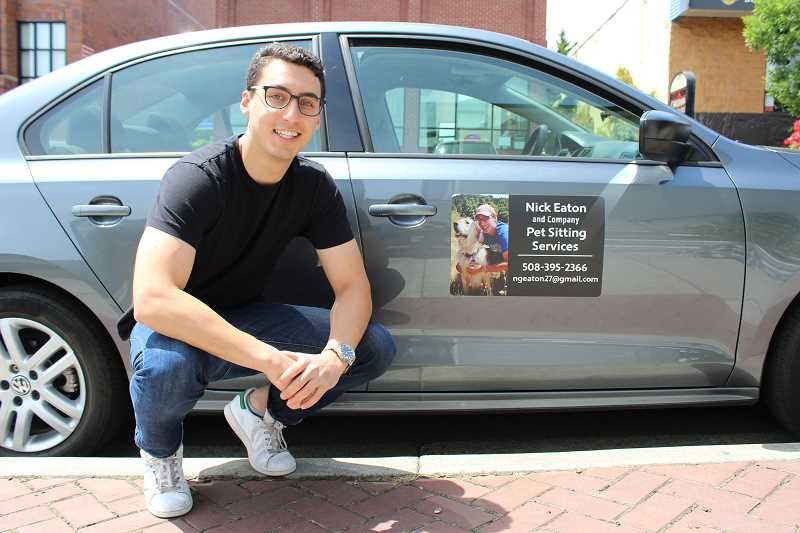 REVIEW PHOTO: SAM STITES - With each passing year, Lakeridge High grad Nick Eaton says, he's learned how to improve and grow his local pet-sitting business.