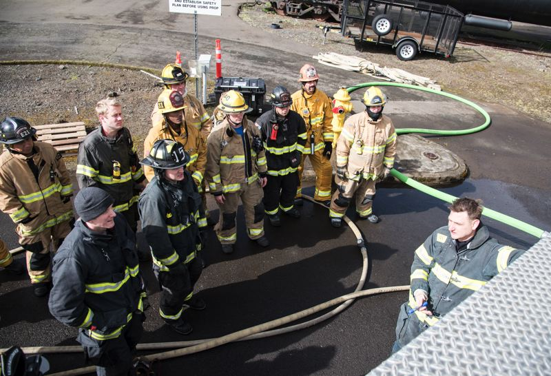 PHOTO COURTESY: TUALATIN VALLEY FIRE & RESCUE - Clackamas firefighters joined fire agencies throughout the region for hands-on training.