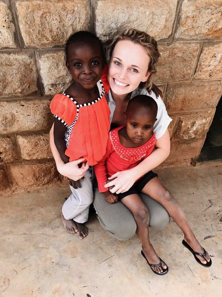 COURTESY: OLIVIA MCDANIEL - Olivia McDaniel is also working toward her nursing degree and recently helped run a free health clinic in Kenya as part of her studies.