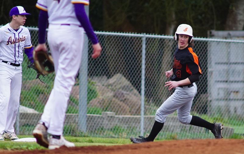 SPOTLIGHT FILE PHOTO - Graduated Scappoose senior Jerad Toman will put his considerable speed to use again this weekend when he plays in the 4A All-Star Series in Roseburg.