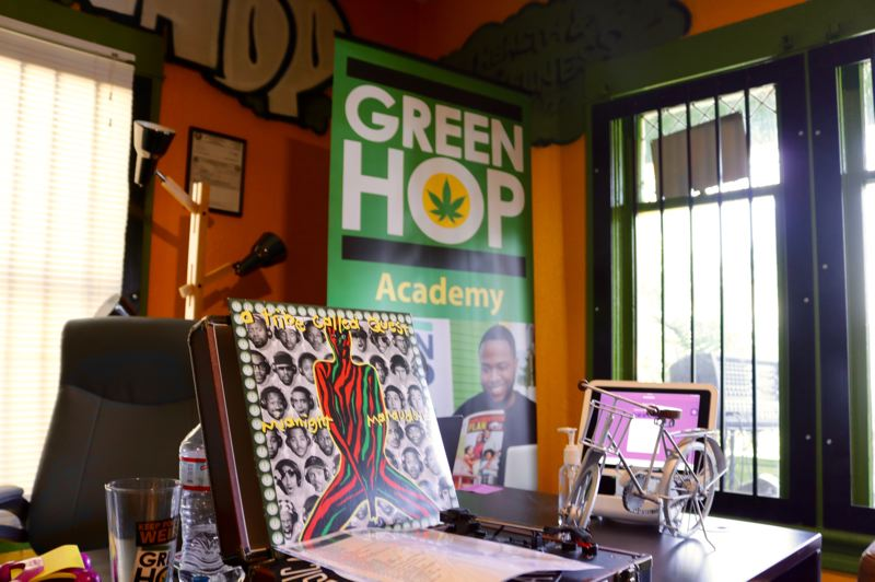 TRIBUNE PHOTO: ZANE SPARLING - The interior of the Green Hop marijuana dispensary on Saturday, June 16.
