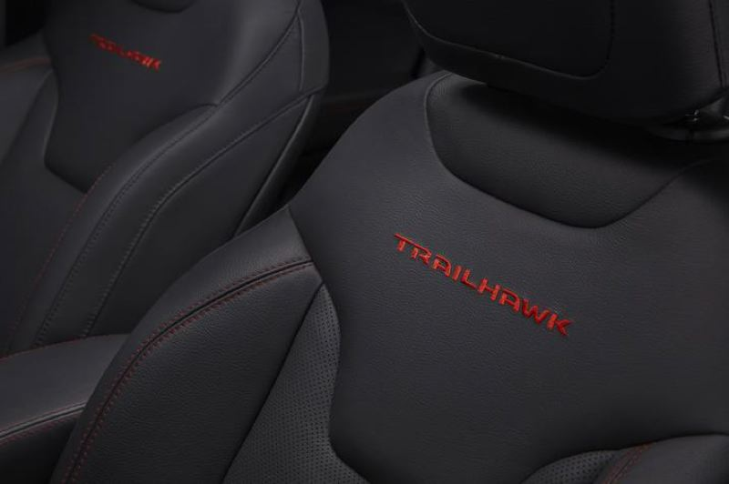 COURTESY FCA - All Compass Trailhawk models come with special interior trim.