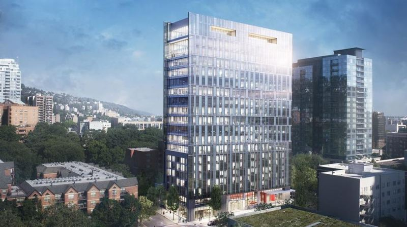 PAMPLIN MEDIA GROUP: JOSEPH GALLIVAN - Most of Bowen's career has been in developing senior living, but his success with Pearl West and the imminent Broadway Tower (seen here in rednering) have encouraged him to think big with a luxurious tower in the heart of downtown Portland, while commercial real estate market might be in its eighth inning, in his words.