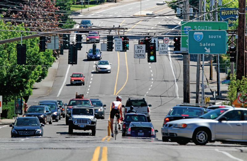 PORTLAND TRIBUNE FILE PHOTO - This complex intersection at Southwest Barbur and Captol Highway will be extensively reworked if the project moves forward.