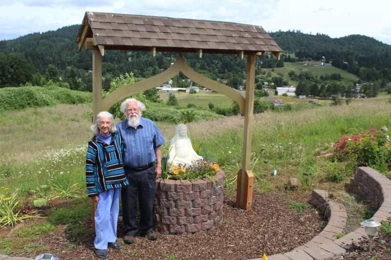 STAFF PHOTO: OLIVIA SINGER - JoAn and David Steinmetz have been working for several years to bring JoAn's vision of peace gardens with a statue of Paramahansa Yogananda to life in Gaston.