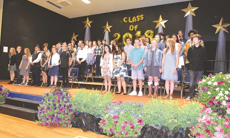 SUBMITTED PHOTO: BRIAN WING - Ninety One School celebrated their eighth-graders on June 14.