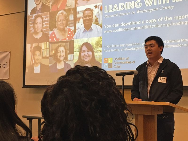 TIMES PHOTO: PETER WONG - Robin Ye, a field organizer for APANO and one of the community partners in the report.