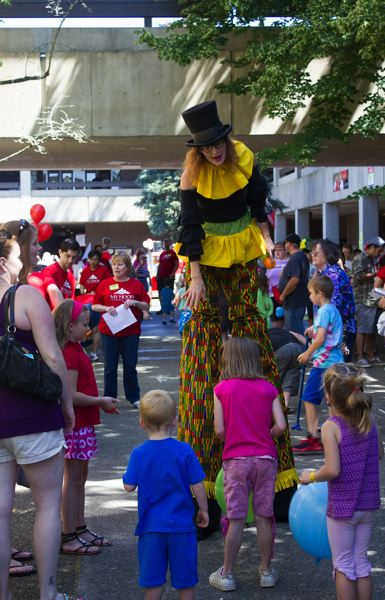 PHOTOS COURTESY OF MHCC - The MHCC festival is filled with fun, including balloons and clowns.