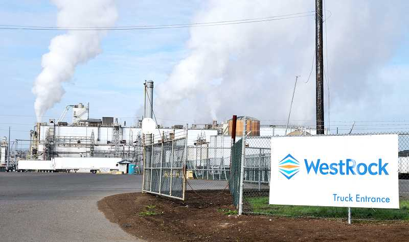 GRAPHIC FILE PHOTO - The newsprint mill in Newberg has been idle since fall of 2015 when Westrock purchased it from SP Fiber Tech.