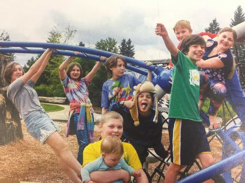FILE PHOTO - Young residents of the Estacada area play at Wade Creek Park during its anniversary celebration last year. In the recently approved Parks Master Plan update, the third phase of the park is included in a list of short term priorities.