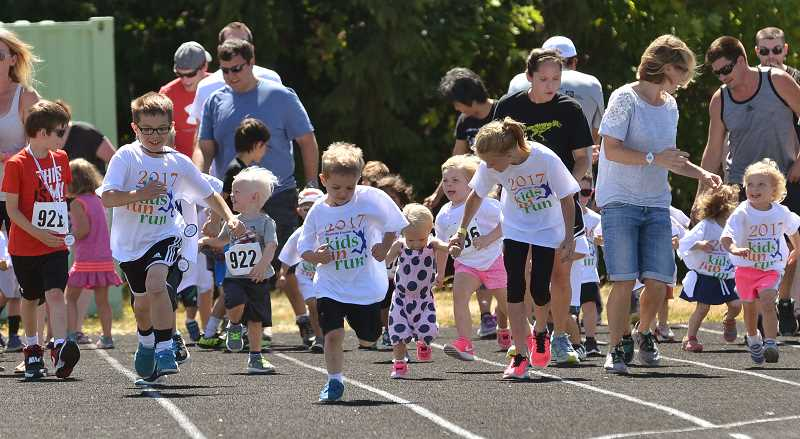 SPOKESMAN FILE PHOTO - The Kiwanis Club of Wilsonville postponed the Kids Fun Run until next year and is instead collaborating with Edge Family Fitness for an alternative running event.