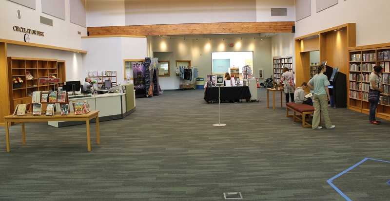 SPOKESMAN PHOTOS: COREY BUCHANAN - The center of the Wilsonville Library is now more open than it was before.