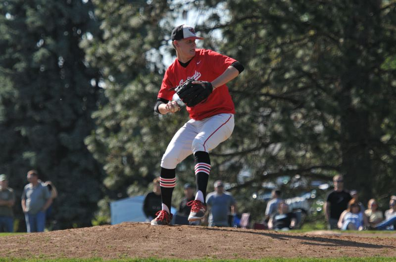 COURTESY: ALAN SACKER - PIL Pitcher of the Year Zane Mills final time representing Lincoln High will come this weekend in the annual Oregon All-Star Series in Corvallis.