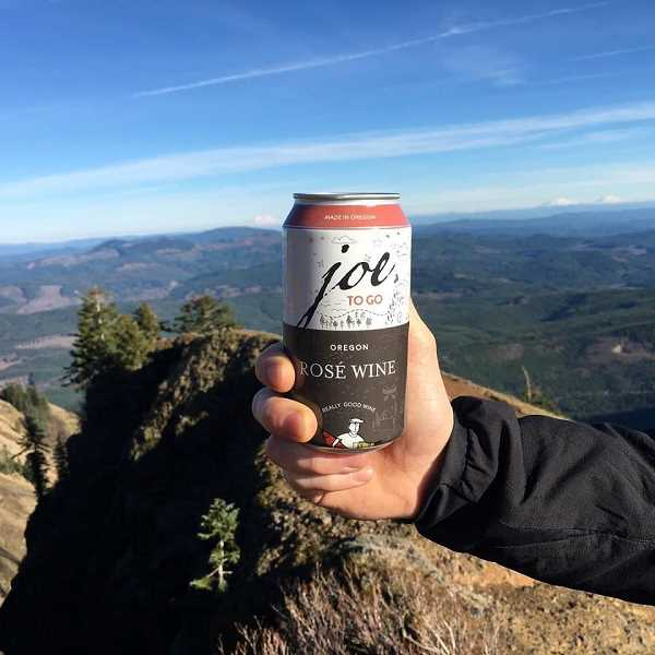 Wine by Joe now comes in cans, which makes it easy to take along on hikes and other events, plus the cans are recyclable, making them better for the environment.