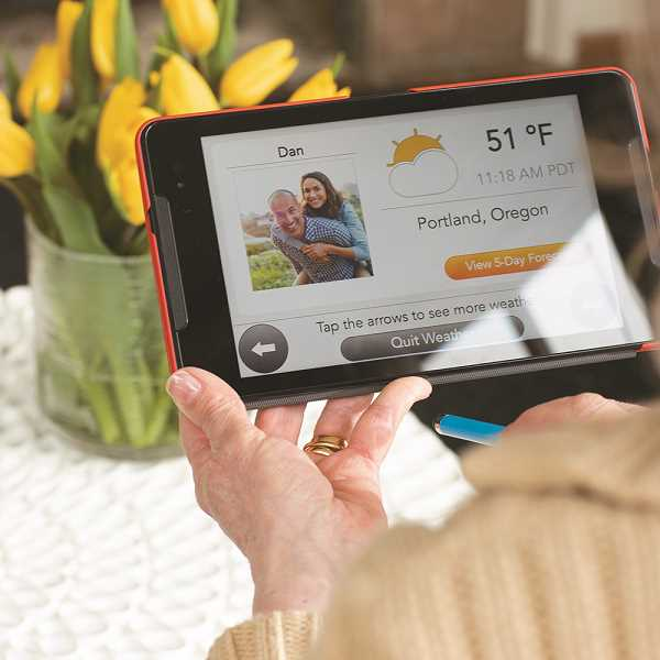 When a GrandPad is purchased, a designated family administrator is able to completely customize the device before it is sent to the user. The easy-to-use device allows seniors to video chat, make voice calls, send and receive photos, dictate emails, listen to their favorite music and play games.