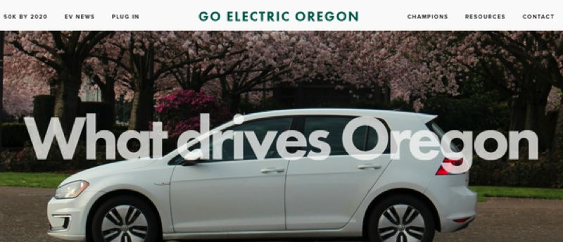 COURTESY: OREGON DEPARTMENT OF ENERGY  - The state is promoting greater use of electric vehicles, and launched a new website to educate the public.