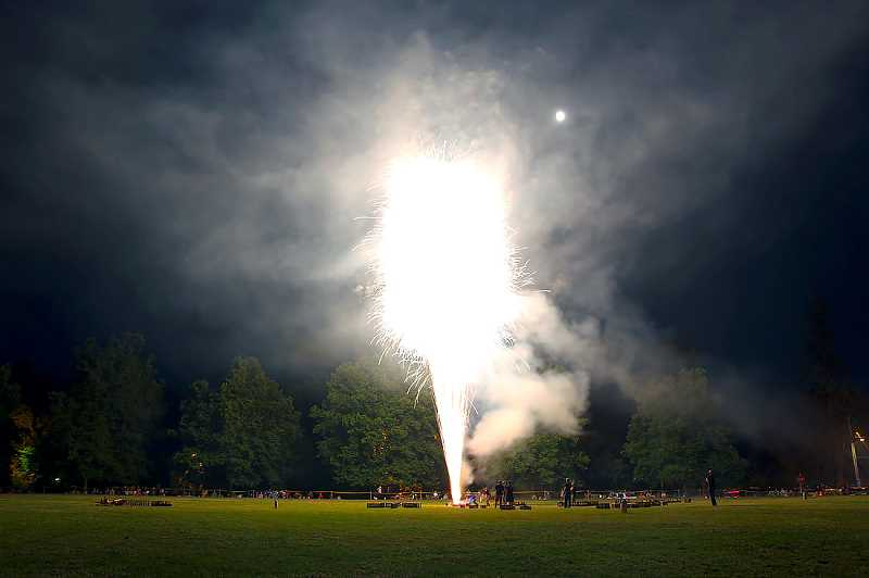 PHOTOS BY MARCUS LAURETA - Willamette Park is the setting for West Linn's annual fireworks display on July 4th.