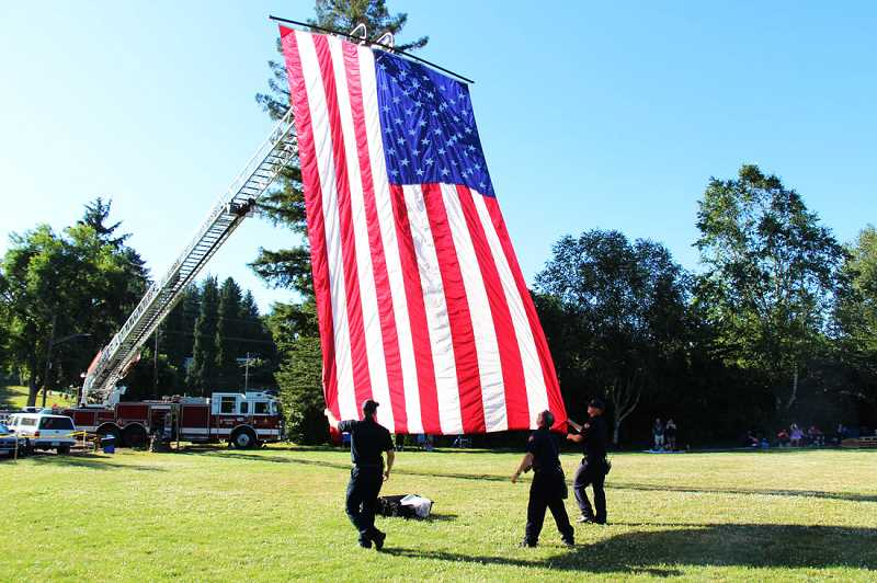 PHOTOS BY MARCUS LAURETA - Tualatin Valley Fire & Rescue will be on hand at event, ensuring both safety and patriotism.