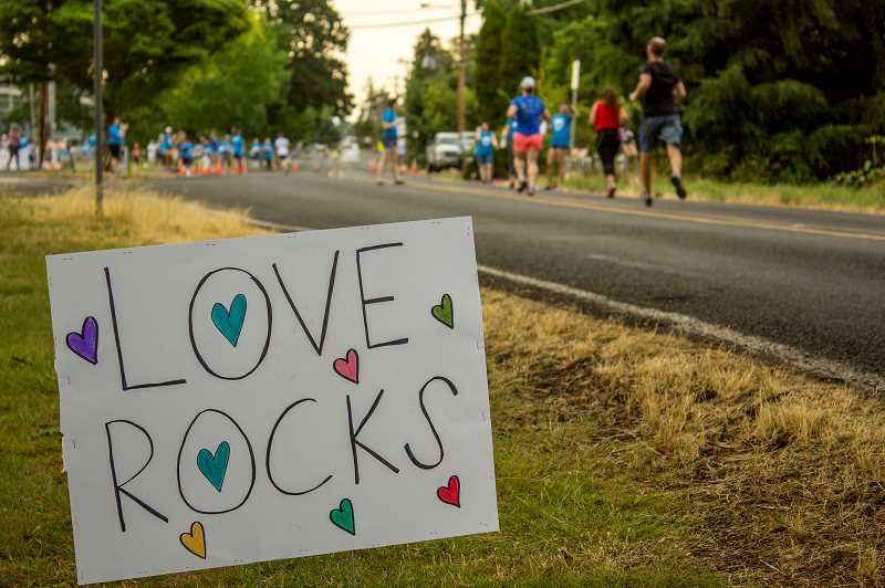COURTESY PHOTO - The Love Rocks Run honors the legacy of two Forest Grove girls killed in 2013.