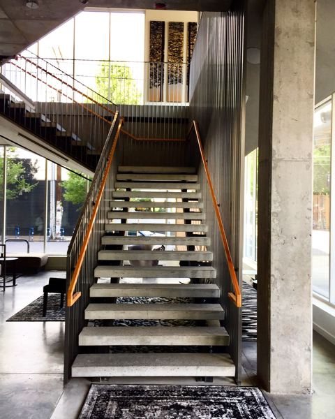 PAMPLIN MEDIA GROUP: BRIAN LIBBY - Modern aesthetics abound in Portland Next, right down to the staircase that leads to a fifth-floor coverered outdoor deck.