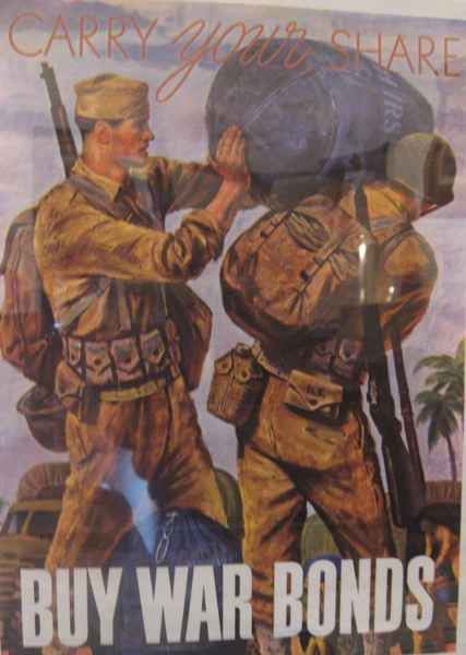CONTRIBUTED PHOTO - Check out the exhibit at the Helsin House in Fairview, featuring posters and other memoriabilia from World War II. See listing for details.