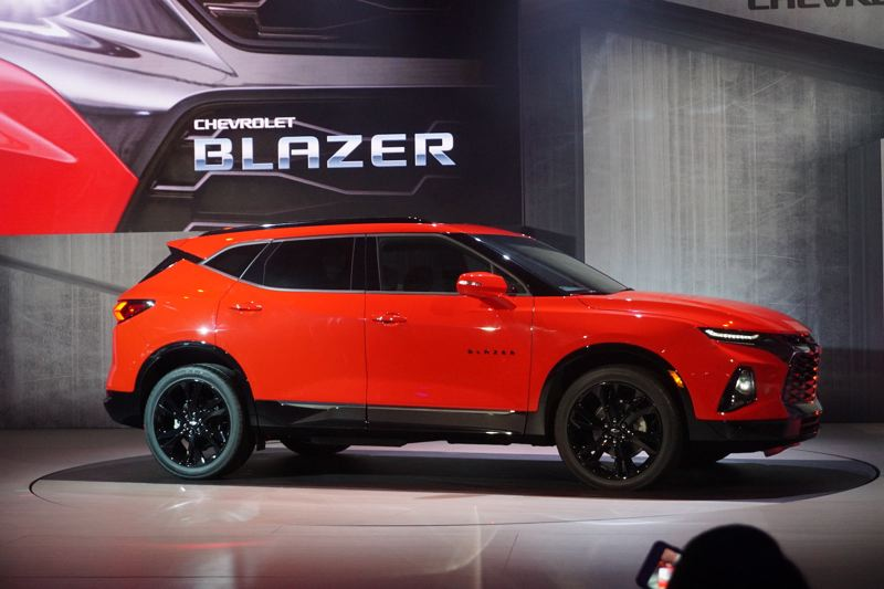 PORTLAND TRIBUNE: JEFF ZURSCHMEIDE - The stylish 2019 Chevy Blazer will be offered as an upscale alternative to the more family-oriented compact Equinox and mid-size Traverse models.