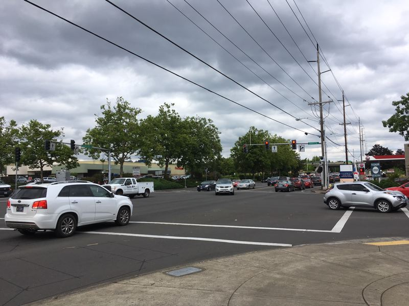 THE TIMES: PETER WONG - Beaverton-Hillsdale Highway eastbound at Southwest Griffith Drive, one of four Beaverton intersections where red-light cameras will be used to ticket excessive speeders. A 2017 law enables cities to designate intersections.