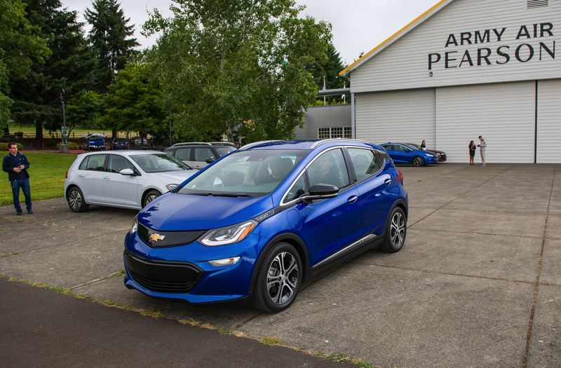 DOUG BERGER/NWAPA - The 2018 Chevrolet Bolt EV, which was named Northwest Affordable Battery-Electric Vehicle of the Year by the Northwest Automotive Press Association.