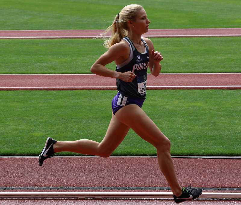 COURTESY PHOTO - Rawlings set the University of Portland record in the 1,500, a record that had been set the same year she was born: 1996.