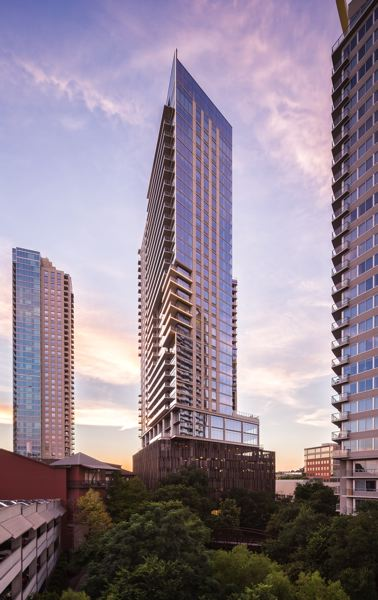 COURTESY: THE LYND COMPANY - The Bowie is another luxury condo tower developed by the Lynd Company developed, this one in Austin, Texas.