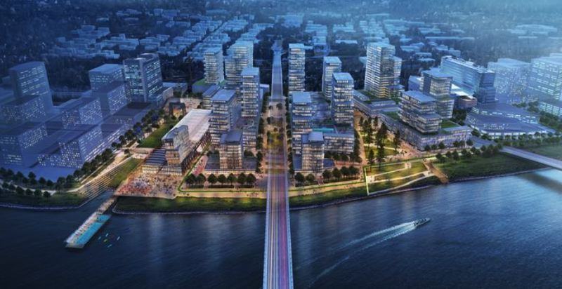 COURTESY: ZRZ REALTY - Zidell Realty's plans for developing the 33 acress of prime land on South Waterfront have been shelved over a vague disgreement with the city over urban renewal funds.