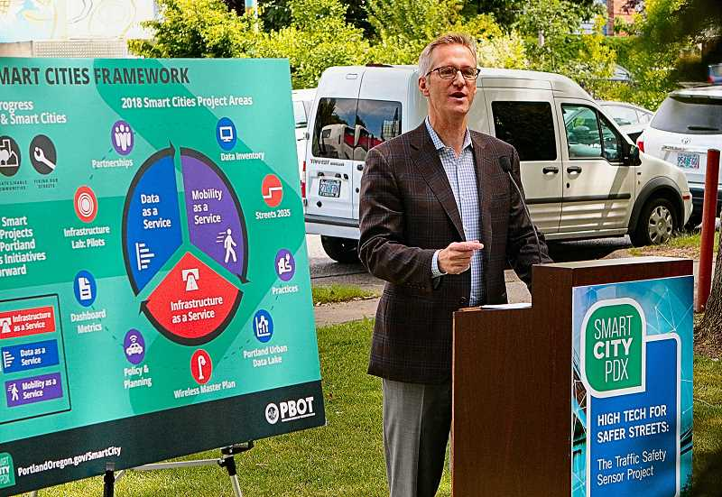 DAVID F. ASHTON - Portland Mayor Ted Wheeler says hes enthusiastic about the Smart City PDX Traffic Safety Sensor Project - and the related projects that follow.