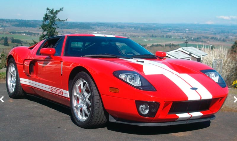 COURTESY MECUM - This 2005 Ford GT sold for $214,500 at the Mecum Portland auction.