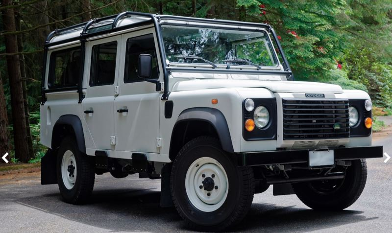 COURTESY MECUM - This 1984 Land Rover Defender 110 sold for $121,000.