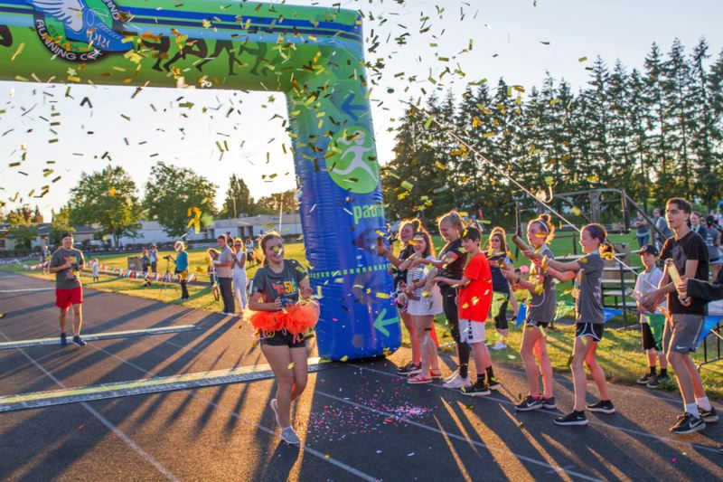 PHOTO: SAM DAY FOUNDATION - A fundraising run at Sunset High School raised money for research into rare childhood cancer.