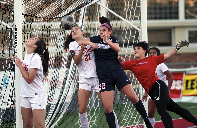 REVIEW FILE PHOTO - While Carlie Leach wasn't a big scorer for the Lakers' soccer team, her leadership helped her win a berth on the all-Three Rivers League first team.